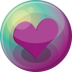 72x72px size png icon of heart purple 3