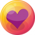 72x72px size png icon of heart purple 4