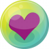 72x72px size png icon of heart purple 5