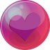 72x72px size png icon of heart purple 6