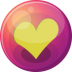 72x72px size png icon of heart yellow 1