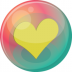 72x72px size png icon of heart yellow 2