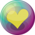 72x72px size png icon of heart yellow 3