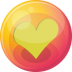72x72px size png icon of heart yellow 4