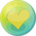 72x72px size png icon of heart yellow 5