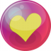 72x72px size png icon of heart yellow 6