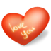 72x72px size png icon of heart love you