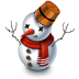 72x72px size png icon of Snowman