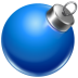 72x72px size png icon of ball blue 2