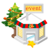 72x72px size png icon of christmas event store