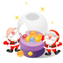 72x72px size png icon of santa christmas balls