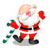 72x72px size png icon of santa dancing
