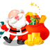 72x72px size png icon of santa gifts bag