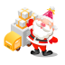 72x72px size png icon of santa gifts truck