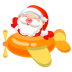 72x72px size png icon of santa plane 2