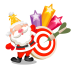 72x72px size png icon of santa stars