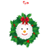 72x72px size png icon of snowman wreath