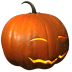 72x72px size png icon of pumpkin smile