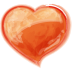 72x72px size png icon of Heart orange