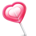 72x72px size png icon of love heart lolly