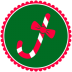 72x72px size png icon of Christmas Candy Cane