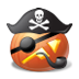 72x72px size png icon of pirate captain
