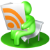 72x72px size png icon of RSS Reader Green