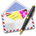 72x72px size png icon of AirMail Stamp Photo Pen