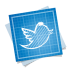 72x72px size png icon of twitter bird