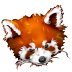 72x72px size png icon of Firefox panda red
