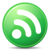 72x72px size png icon of Feeds Green