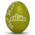 72x72px size png icon of deviantart white