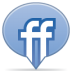 72x72px size png icon of social balloon friendfeed