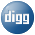72x72px size png icon of social digg button blue