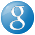 72x72px size png icon of social google button blue