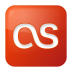 72x72px size png icon of social lastfm box red