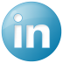 72x72px size png icon of social linkedin button blue