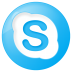 72x72px size png icon of social skype button blue
