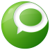 72x72px size png icon of social technorati button green