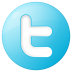 72x72px size png icon of social twitter button blue