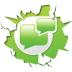 72x72px size png icon of social inside blogblogs