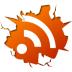 72x72px size png icon of social inside rss