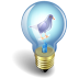 72x72px size png icon of twitter bulb purple