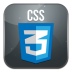 72x72px size png icon of css 3