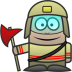 72x72px size png icon of Firefighter