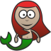 72x72px size png icon of Mermaid
