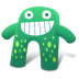72x72px size png icon of Creature Green Blue