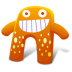72x72px size png icon of Creature Orange