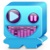 72x72px size png icon of monster blue