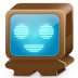 72x72px size png icon of monster brown